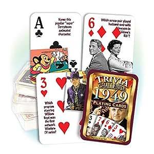 Amazon.com: 1949 flickback Trivia Juego de cartas: Gran ...
