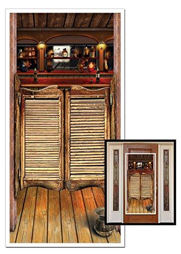 Décoration de fête porte Western Saloon
