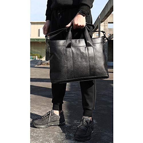 Voyages affaires Pour Les Café Xuanbao hommes couleur Noir Tablette À Homme Main école femmes En Étui Bandoulière Sac D'ordinateur Cuir Véritable wg6Oqx