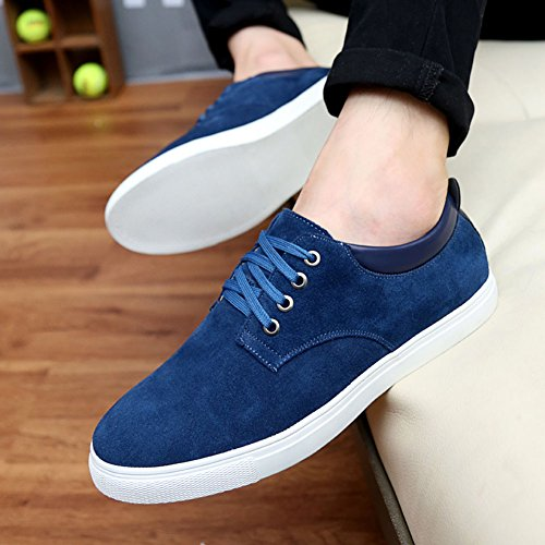 Chaussure wealsex Confort Bleu Homme Grande Suédé 45 Classique Sneakers 48 Taille 46 Basket Tennis 49 47 Sport Basse R1qrpXU1