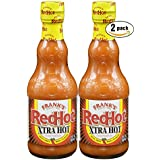 Frank's RedHot Xtra Hot Cayenne Pepper Sauce, 12oz (Pack of 2, Total of 24 Oz)