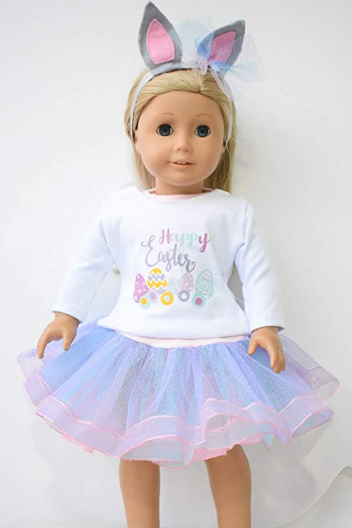 19a4fe83bbb7 Amazon.com  Unique Doll Clothing New Easter Dress for 18 Inch Dolls ...