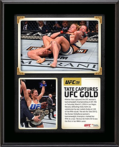 Miesha Tate Ultimate Fighting Championship 10 5  X 13  Ufc 196 And New Womens Bantamweight Champion Sublimated Plaque