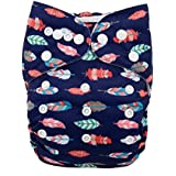 Alva Baby New Design Reuseable Washable Pocket Cloth Diaper Nappy + 2 Inserts H001