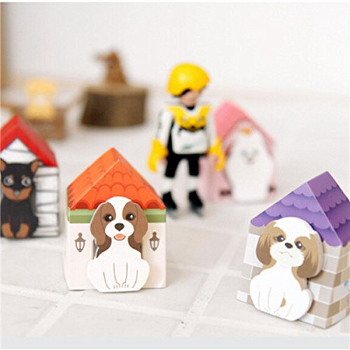 CoCocina Lovely Puppy House Bookmark Sticker Memo Mark Tab Sticky Notes