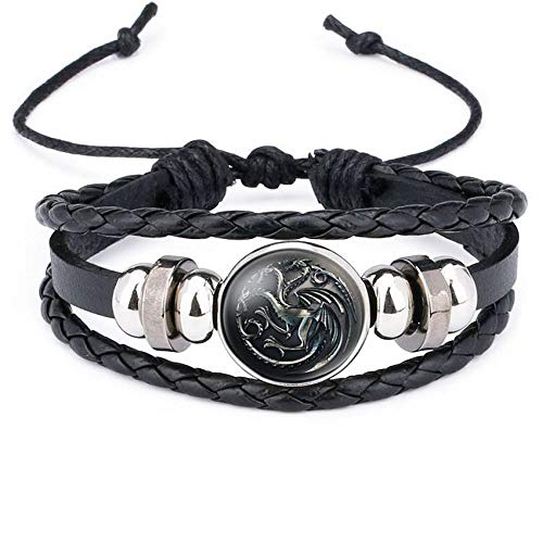 BRE Bracelet Leather Game of Thrones Icon Badge Cuff Bracelets Jewelry Wristband G (Game Of Thrones Sezonul 2 Episodul 7)