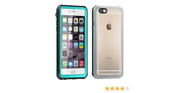 Funda impermeable iPhone 6s Plus , Eonfine Funda para iPhone 6 Plus protectora transparente IP68 Certificado con Touch ID Protector de pantalla incorporado ...