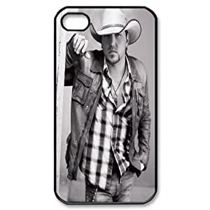 Qxhu Jason Aldean patterns Hard Plastic Back Protective case for Iphone4,4S