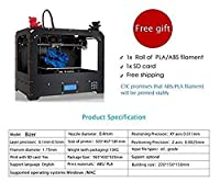 Trovole FDM-01 3D Printer Kit Pro Dual Extruder LCD Screen Desktop 3D Printer with 1.75mm ABS/PLA Print Filament SD Card (Building Size 225×145×150mm) by Trovole