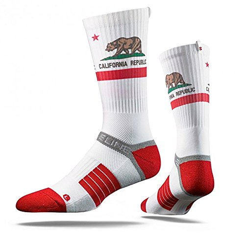 Strideline White Bear Strapped Fit 2.0 Socks - White