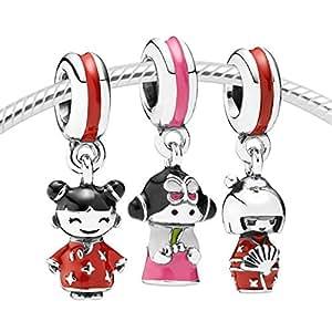Amazon Com Pandora 791387enmx Korean Doll Charm Arts