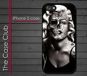 iPhone 5C (New Color Model) Rubber Silicone Case - Marilyn Monroe Day of the Dead Sugar Skull Tattoos Dia de Los Muertos