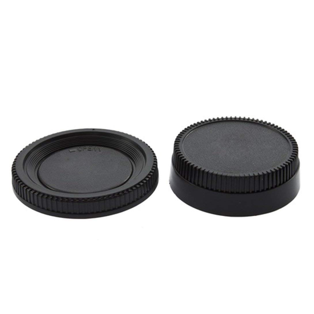 Swiftswan 58X22mm Camera Plastic Black Body Cover + Rear Lens Caps Cover for All Nikon DSLR Camera Protective Cover