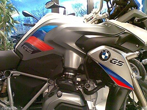 2 ADESIVI 3D PROTEZIONI LATERALI RALLY compatibile per MOTO BMW GS R1200 2013-2016