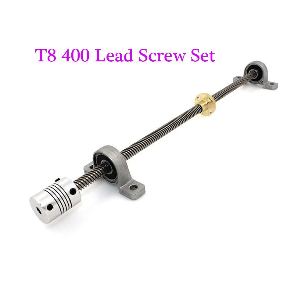 bloc de roulement BZ 3D 400 T8 Lot de vis de plomb kit de coupleur pour imprimante 3D 400 losange /écrou en cuivre