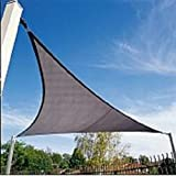 San Diego Sail Shades 20'x20'x28' Right Triangle (Grey) - Commercial Grade Shade Sail