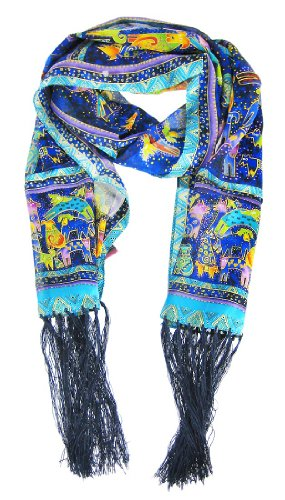 Laurel Burch Scarves-Mythical Dogs