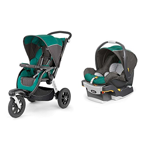 Chicco Activ3 Jogging Stroller with KeyFit 30 Infant Car Seat Travel System – Energy