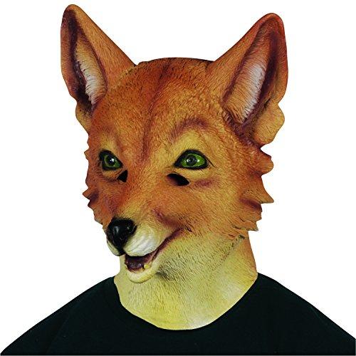 Fox Head Costume (Loftus International Adult Realistic Fox Animal Head Mask, Brown/Tan, One Size)
