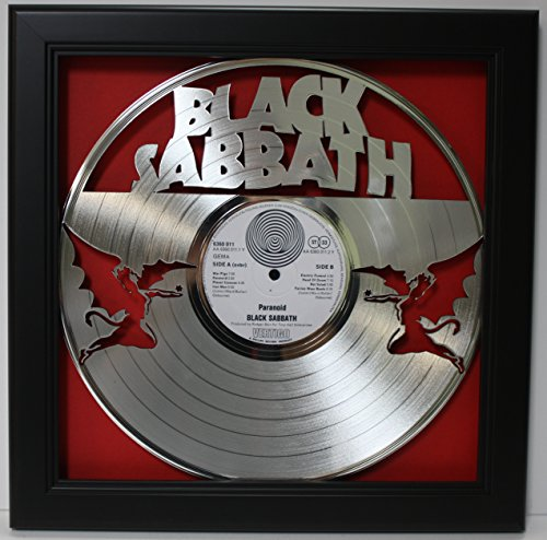 Black Sabbath Framed Laser Cut Platinum Plated Vinyl Record