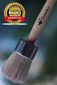 100% NATURAL Bore Bristles Wax , Chalk & Milk Paint Brush , Maximum Bristles Retention , Annie Sloan Quality at a Fair Price , Creative & Authentic Finishes , Ergonomic Handle