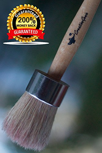 100% NATURAL Bore Bristles Wax , Chalk & Milk Paint Brush , Maximum Bristles Retention , Annie Sloan Quality at a Fair Price , Creative & Authentic Finishes , Ergonomic Handle