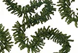 Darice x Commercial Length Balsam Pine Artificial Christmas Garland-Unlit, 50' x 14'', Green