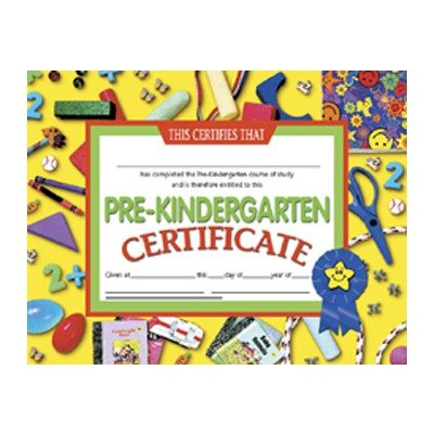 amazon com pre kindergarten certificate learning and development