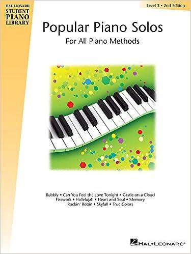 Hal Leonard Student Piano Library Popular Piano Solos Level 3 Hal