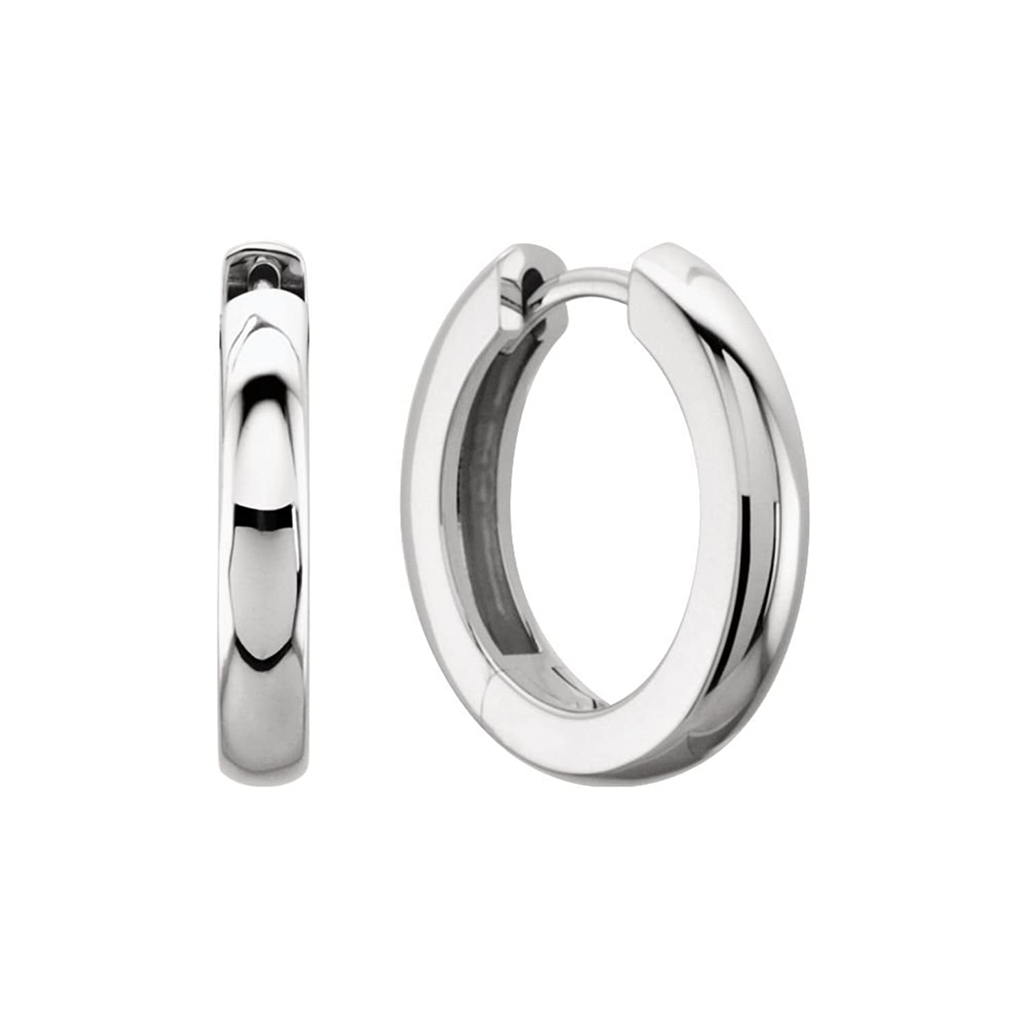 Amazon Platinum 11 5mm Hinged Hoop Earrings Jewelry