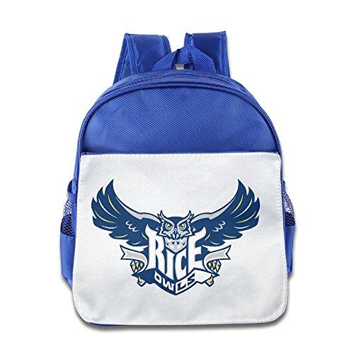 (Rice Owls University Sport Toddler Kids Shoulder School Bag RoyalBlue)
