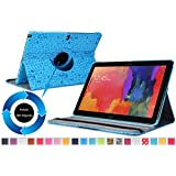 Moko Samsung Galaxy Note PRO & Tab PRO 12.2 Case - 360 Degree Rotating Cover Case for Galaxy NotePRO (SM-P9000) & TabPRO (SM-T900 / T905) 12.2 Android Tablet, Cutie Charm BLUE