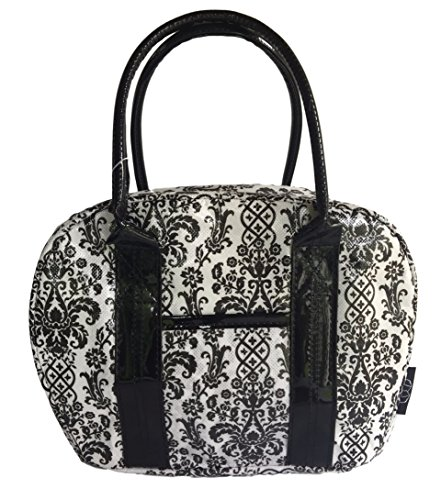 Two Lumps of Sugar Bowler Lunch Bag, Mini, Damask Black/White