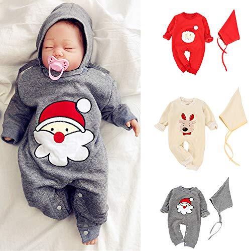 Capuche Christmas Accessoires Deguisement Cadeau De Noel Barboteuse Fille Bébé A Hiver Grenouillères Pyjama Rouge Vetement Angelof Sqw8vCq