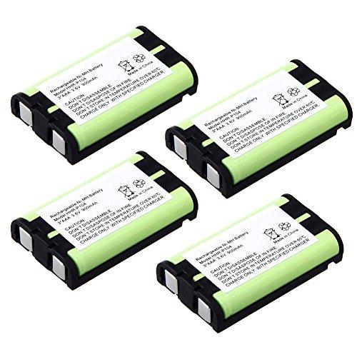 900mAh 3.6V Rechargeable Ni-MH Battery for Panasonic Cordless Phone KX-FPG391 KX-TG2302 KX-TG2303 KX-TG2312 KX-TG2313 KX-TG2314 Type29 HHR-P104 HHR-P104A (4-Pack) ()