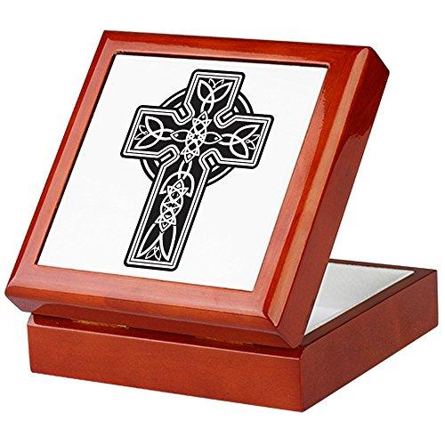 Keepsake Box Mahogany Celtic Cross