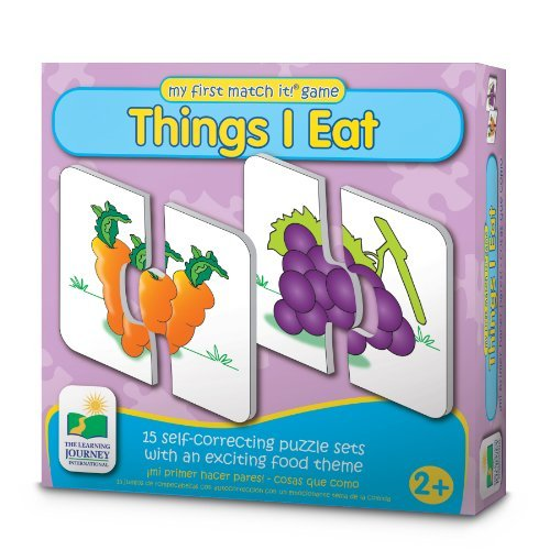 The Learning Journey My First Match It! - Things I Eat by Learning Journey