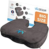 "SOFTaCARE Best Seat Cushion - Big Cushion Seat - Office Chair Cushion 18""x16""x 3 1/2"" - Chair Pillow Memory Foam! Ideal Car Seat Cushion - Coccyx Cushion - Relieve Your Pain. Size has The Meaning!"