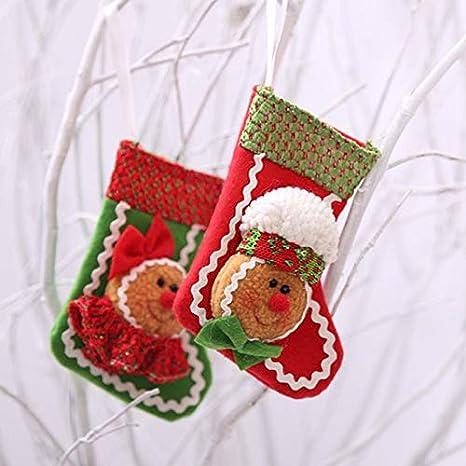 Wa 1X Decoración Navideña Calcetín de Navidad para el Regalo del Bolso de Azúcar(Papá Noel): Amazon.es: Hogar