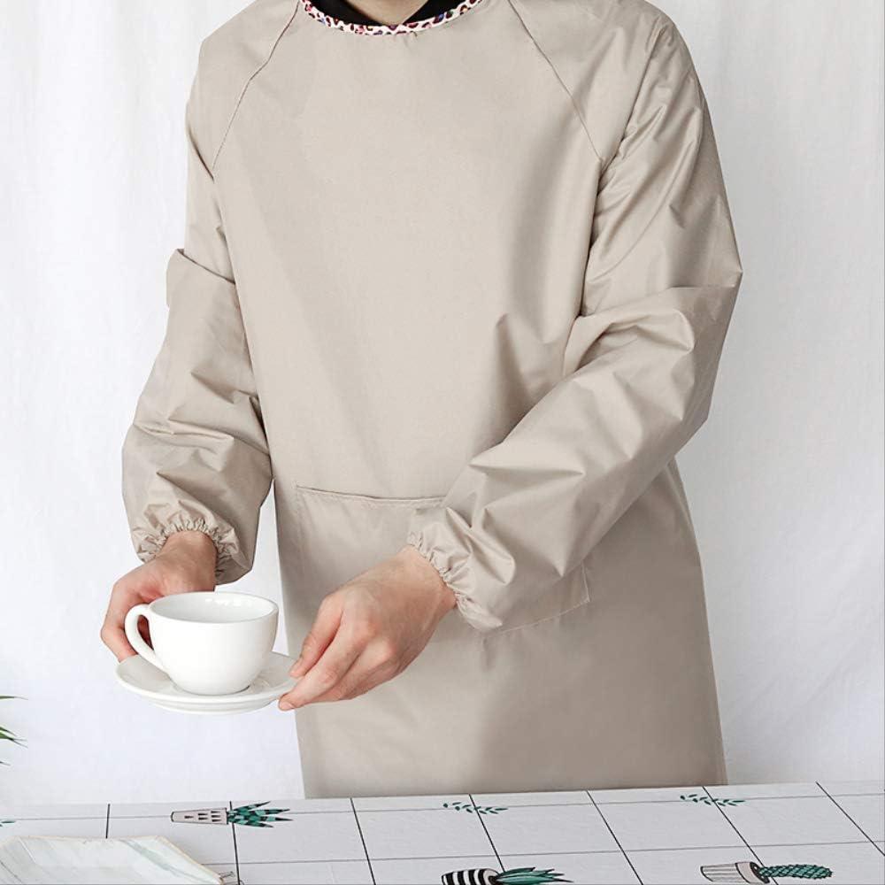 XLJJCP Tablier M/énage Salopette De Cuisine Adultes Imperm/éable Et R/ésistant /À lhuile Manches Longues V/êtements De Travail Taille Chef Antifouling R/ésistant /À lusure A