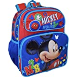 """Disney Mickey Mouse Deluxe 12"""" Small School Bag Backpack"""