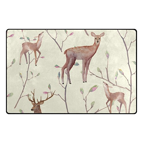 My Daily Deer and Tree Twigs Area Rug 20