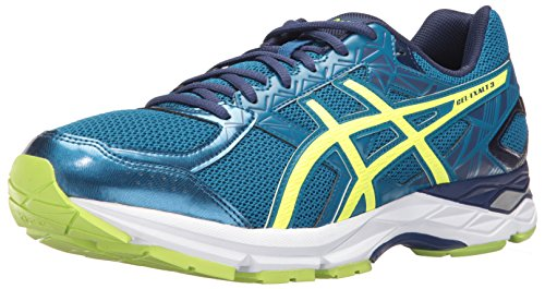 ASICS Men's Gel-Exalt 3 Running Shoe, Dark Grey/Silver/Hot Orange, 9 M US