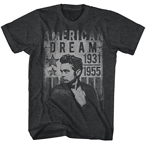 James Dean - Mens Dream T-Shirt, Size: Large, Color: Black Heather