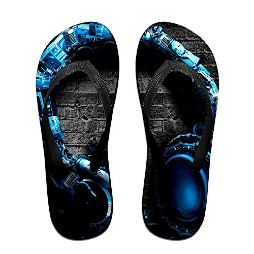 JESUS SAUCEDO Abstract Headphones Water-resistant V Flip Flops Beach Slippers Chinela Baboosh Babouche - Independence Missouri Center