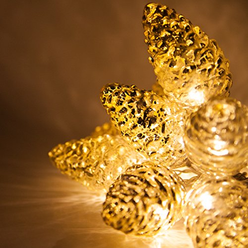 Pine Cone Outdoor Christmas Lights - 5