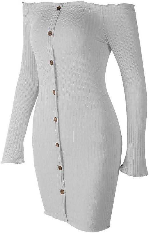 DENGZI Boho Enges Off Shoulder sukienka damska seksowna bez ramion podkreślająca figurę: Odzież