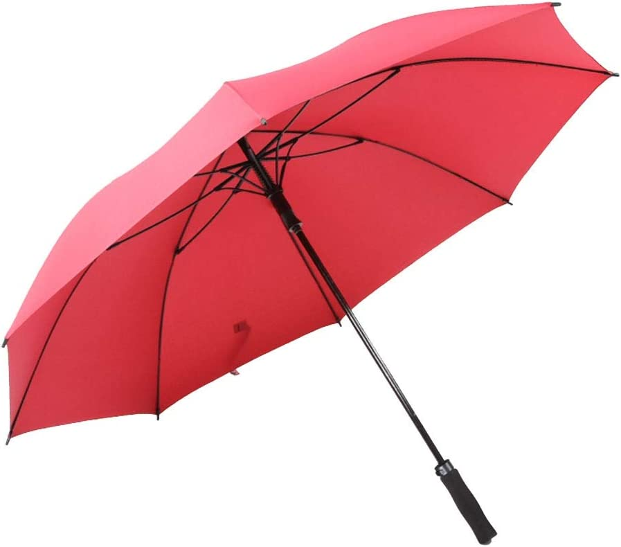 Color : Wine red ZHANGAIZHEN Windproof Shade Anti-UV Increase The Umbrella Surface Simple Fully Automatic Large Creative Design