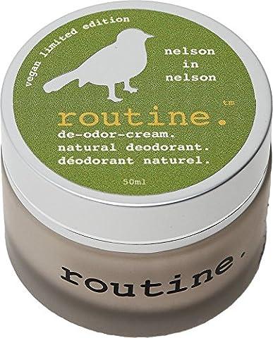 Routine De-Odor-Cream 50ml Clay Formula Natural Deodorant Cream (Nelson in Nelson (Vegan)) (Maggie Nelson Jane)
