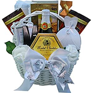 Best Wishes To You Wedding Gourmet Food Gift Basket - SMALL (Chocolate Option)